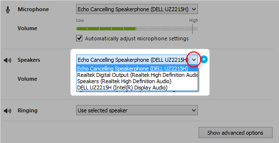 Echo Cancelling Speakerphone